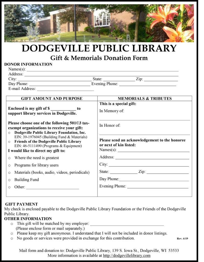 Donation Form PDF